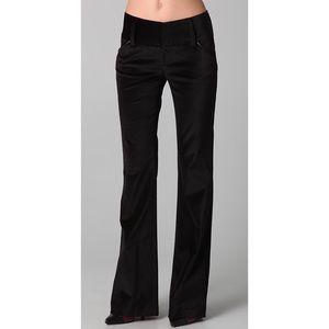 Brand New Alice + Olivia Velvet leather trim Pants
